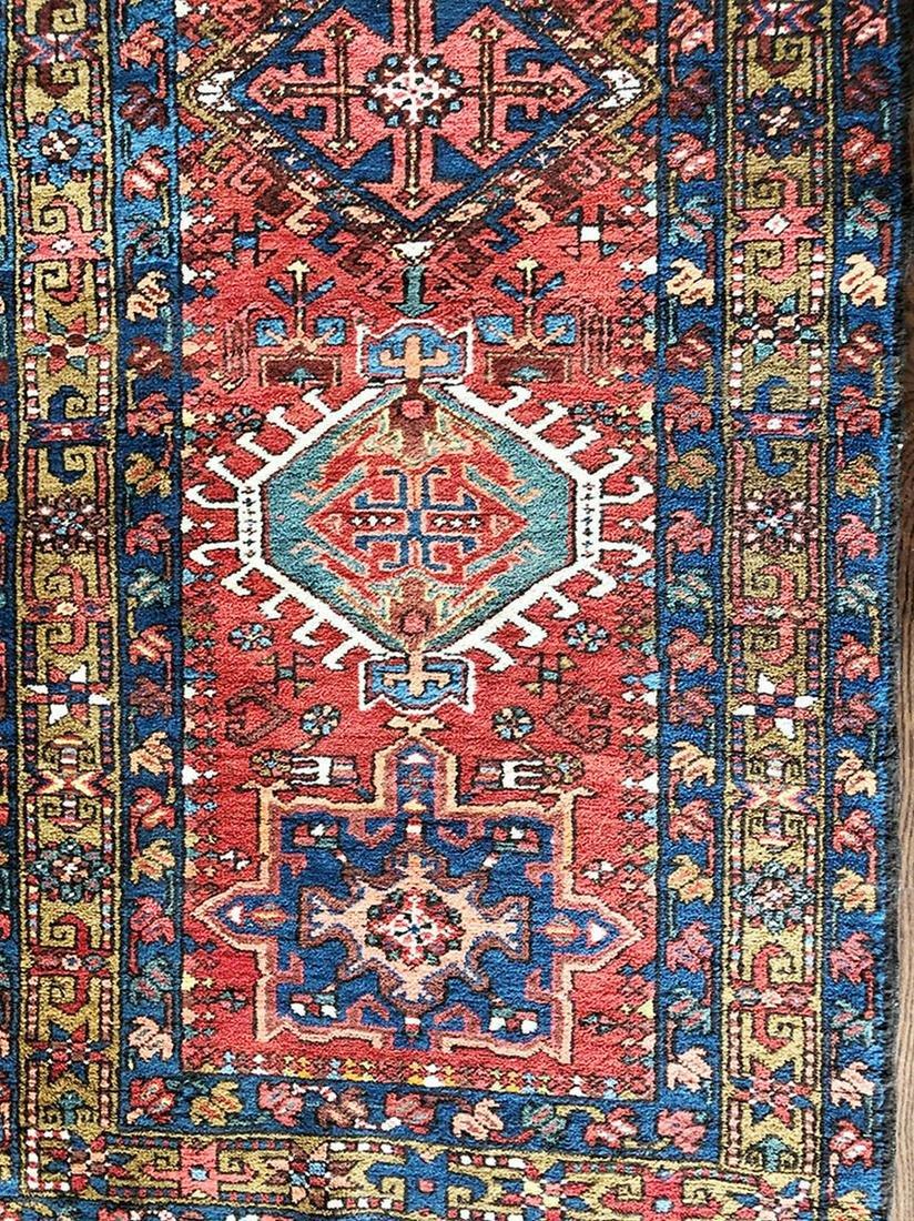An Antique Allover Persian Heriz Rug