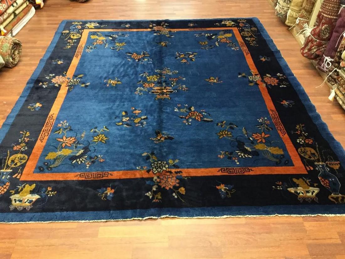 Antique Room Size Chinese Peking Rug-
