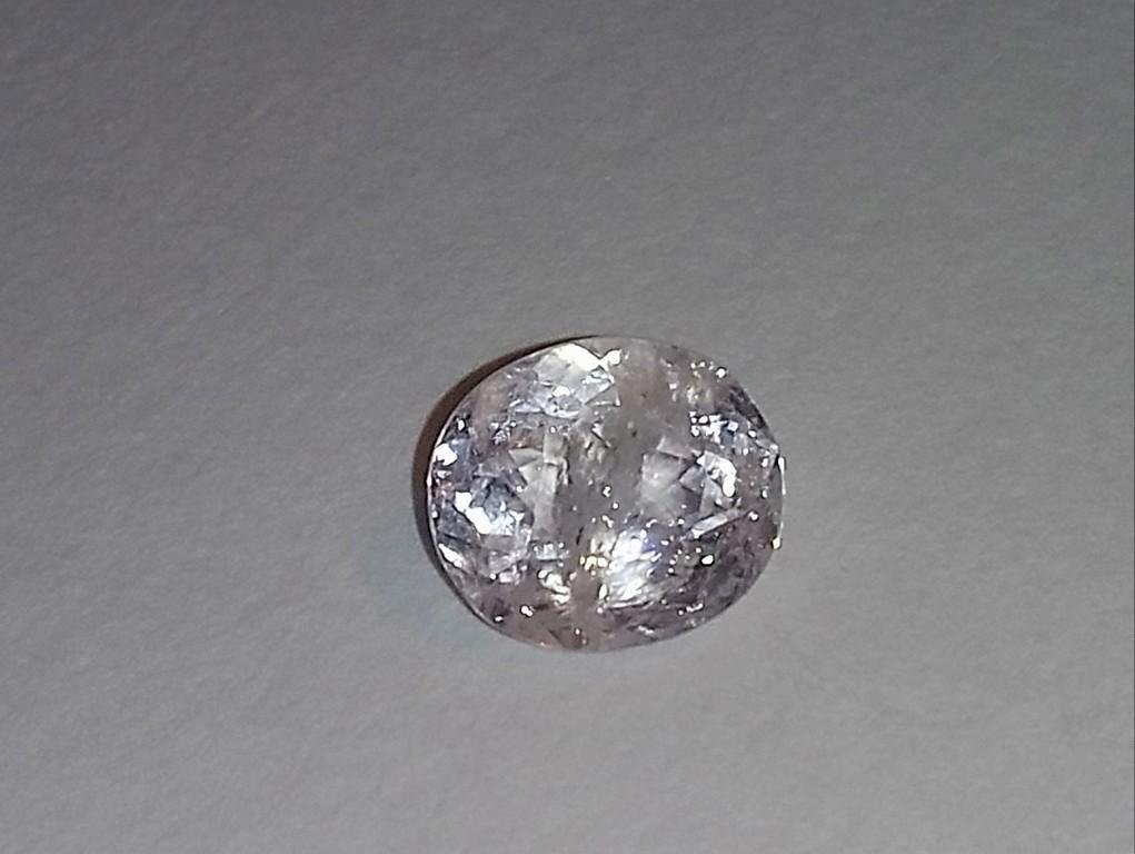 4.06 Ct. Morganite Natural Unheated Oval Facet Rose
