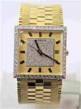 NOS Mens 18K Gold JUVENIA MACHO AUTOMATIC Watch 8902