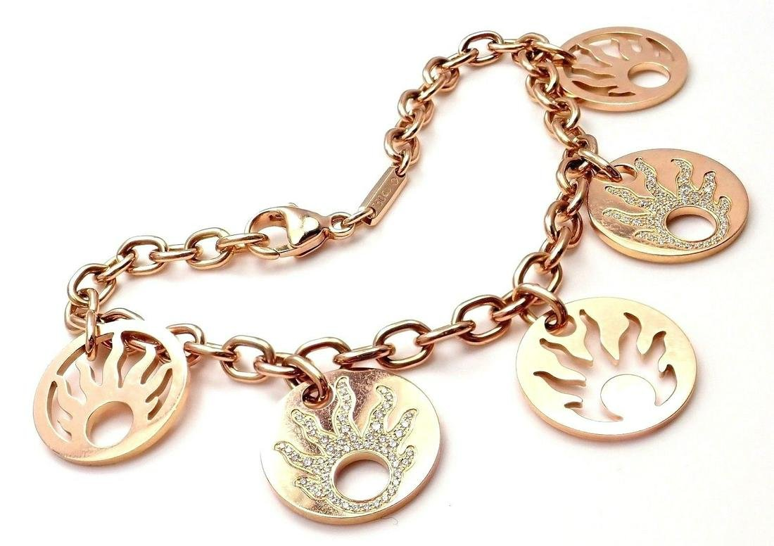 Authentic Chopard Happy Sun Diamonds 18k Rose Gold 5