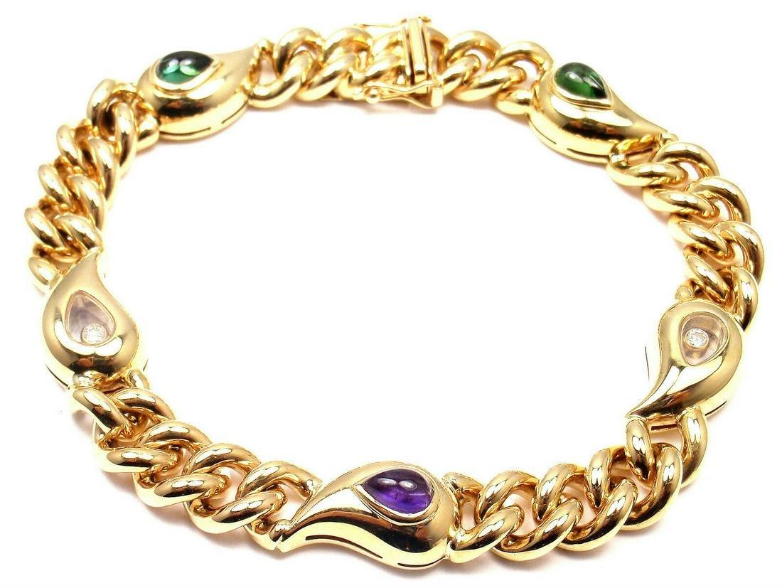 Authentic! Chopard Casmir 18k Yellow Gold Diamond