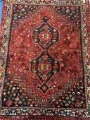 Semi Antique Hand Woven Persian Afshar  Rug 54x4