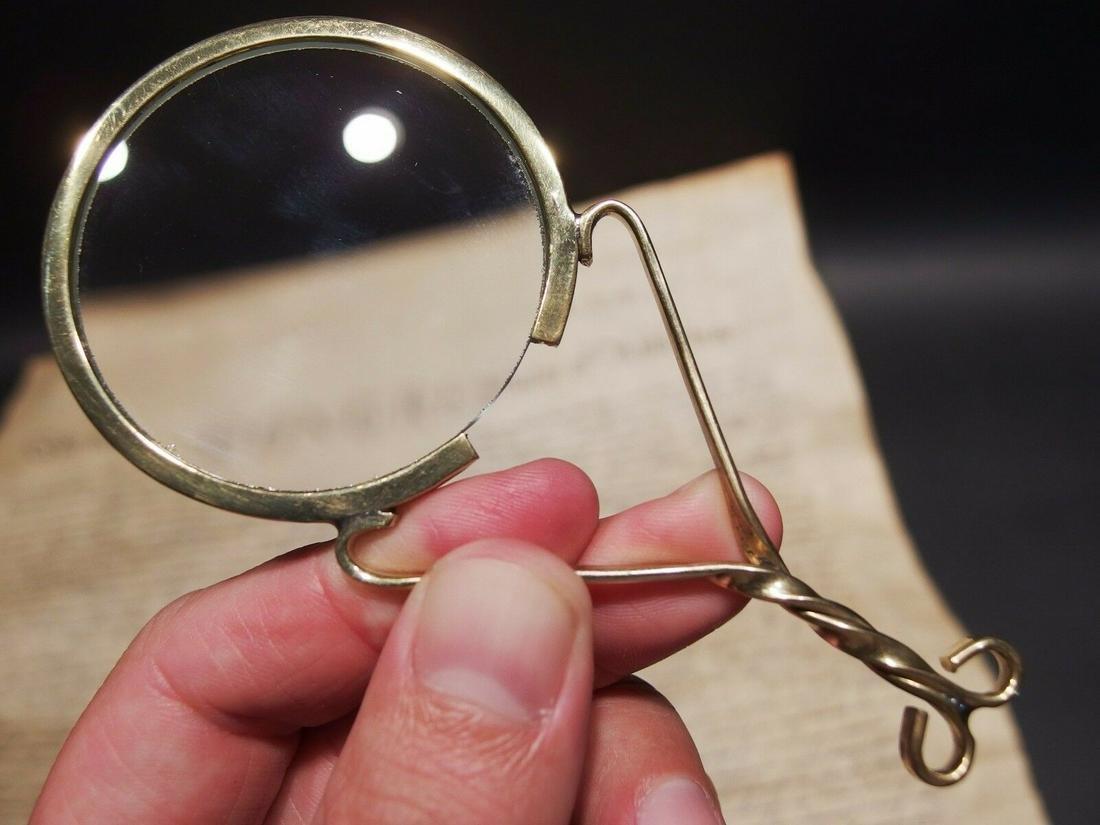Brass Magnifying glass Hand Lens