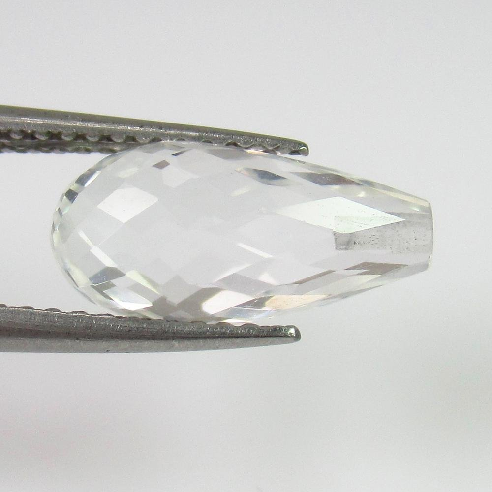 4.01 Ct Genuine White Topaz Pear Drop Cut