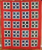 1890s Red White  Blue Goose Tracks
