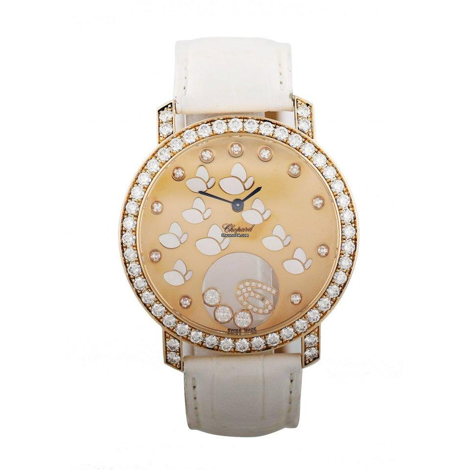Chopard Happy Diamonds Happy Time Butterfly 207450 Rose