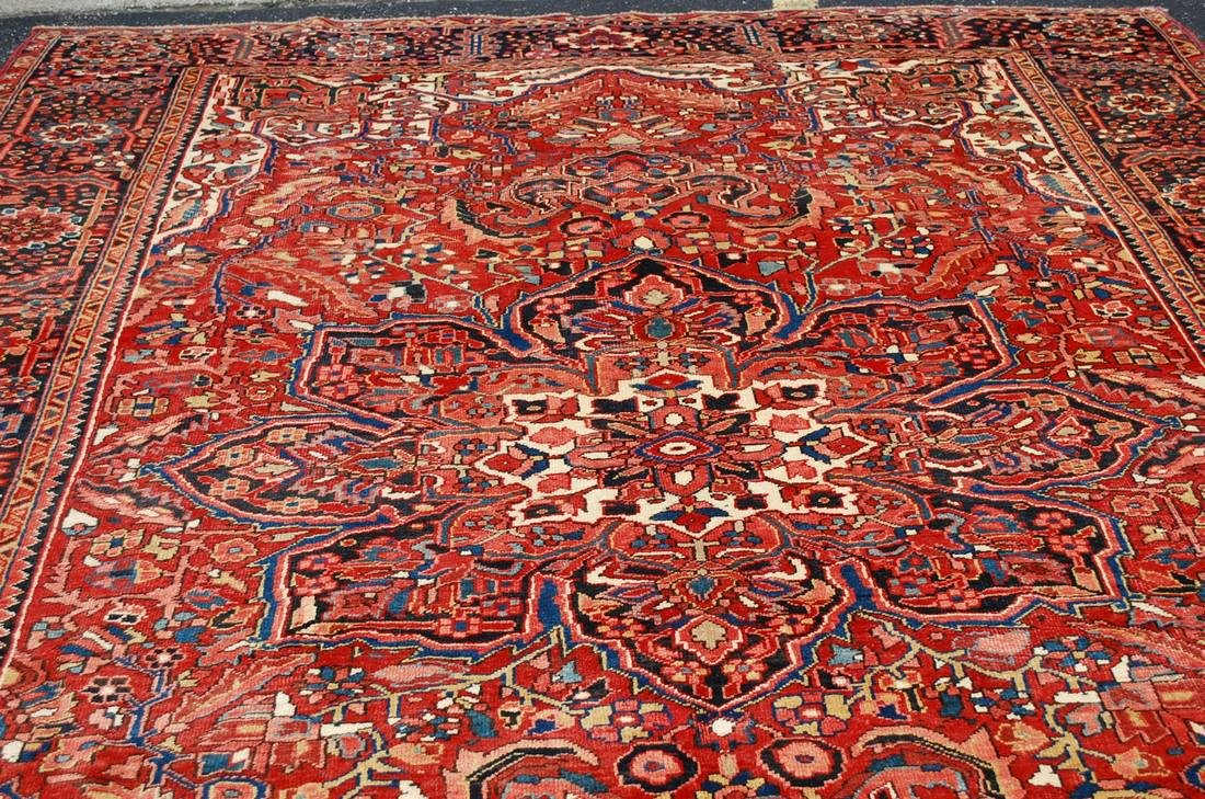 C1930s ANTIQUE ROOM SIZE PERSIAN HERIS SERAPI RUG