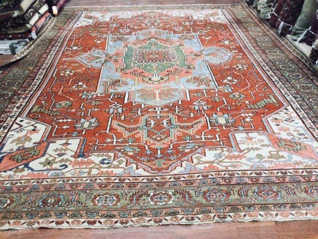 19th Large size Heriz/ Serapi Carpet-4659