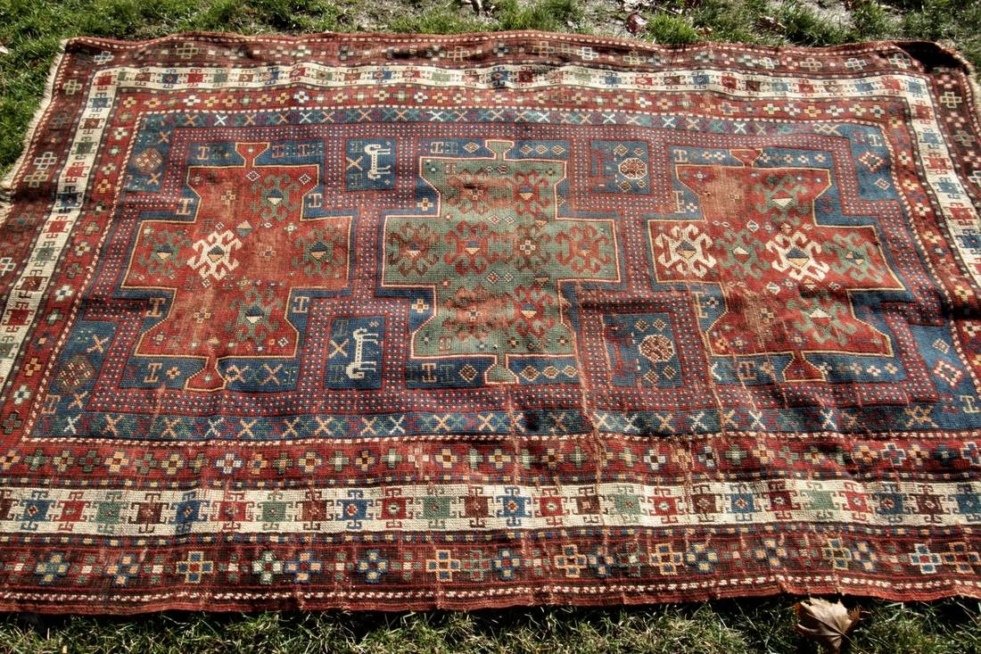 "Antique Rug Kazak Caucasian 5' X 8' Animal ""Ralph"