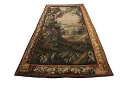 18th Century Antique Flemish Aubusson Tapestry Rare