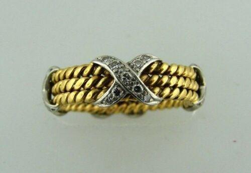 TIFFANY & CO.SCHLUMBERGE; R 18K YELLOW GOLD DIAMOND X