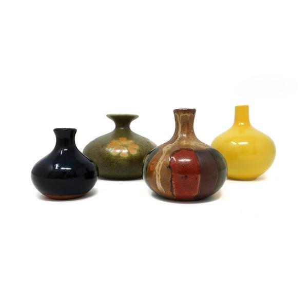 Four Vintage Japanese Ceramic Vases