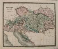 1831 Teesdale Map of Austria - Hungary -- Austrian