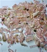 Natural  unheated Pink Tourmaline Crystal rough Lot