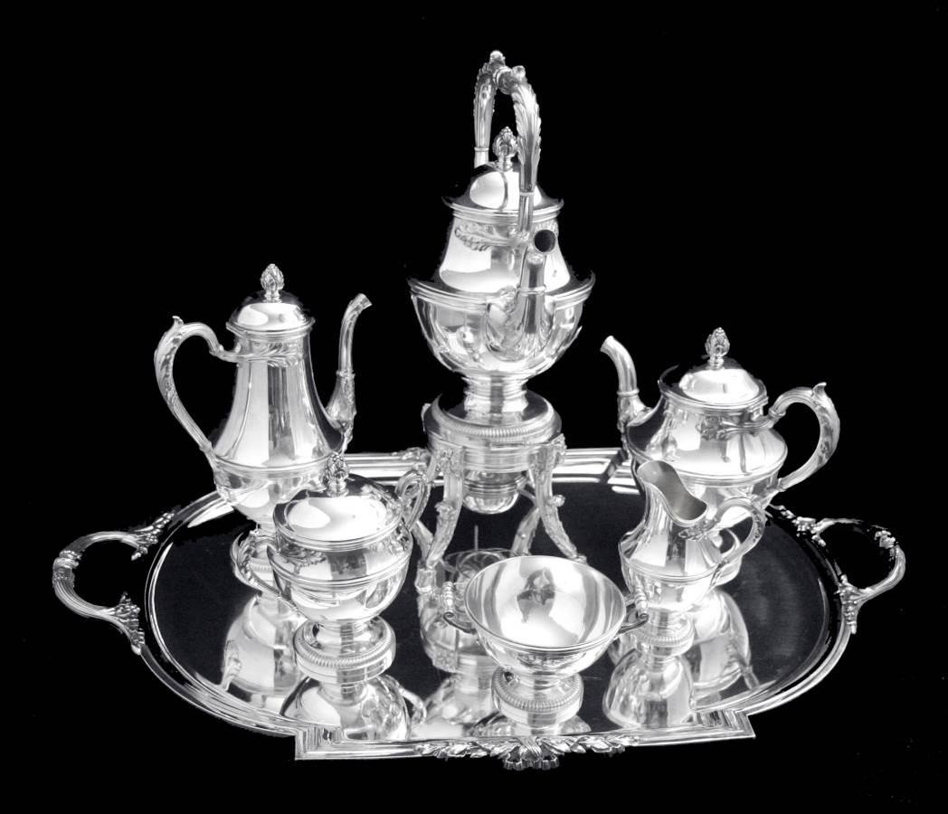 Keller 8 pc Sterling Silver Tea Set