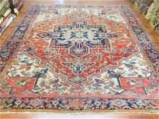 Antique Persian Room size Heriz Rug-