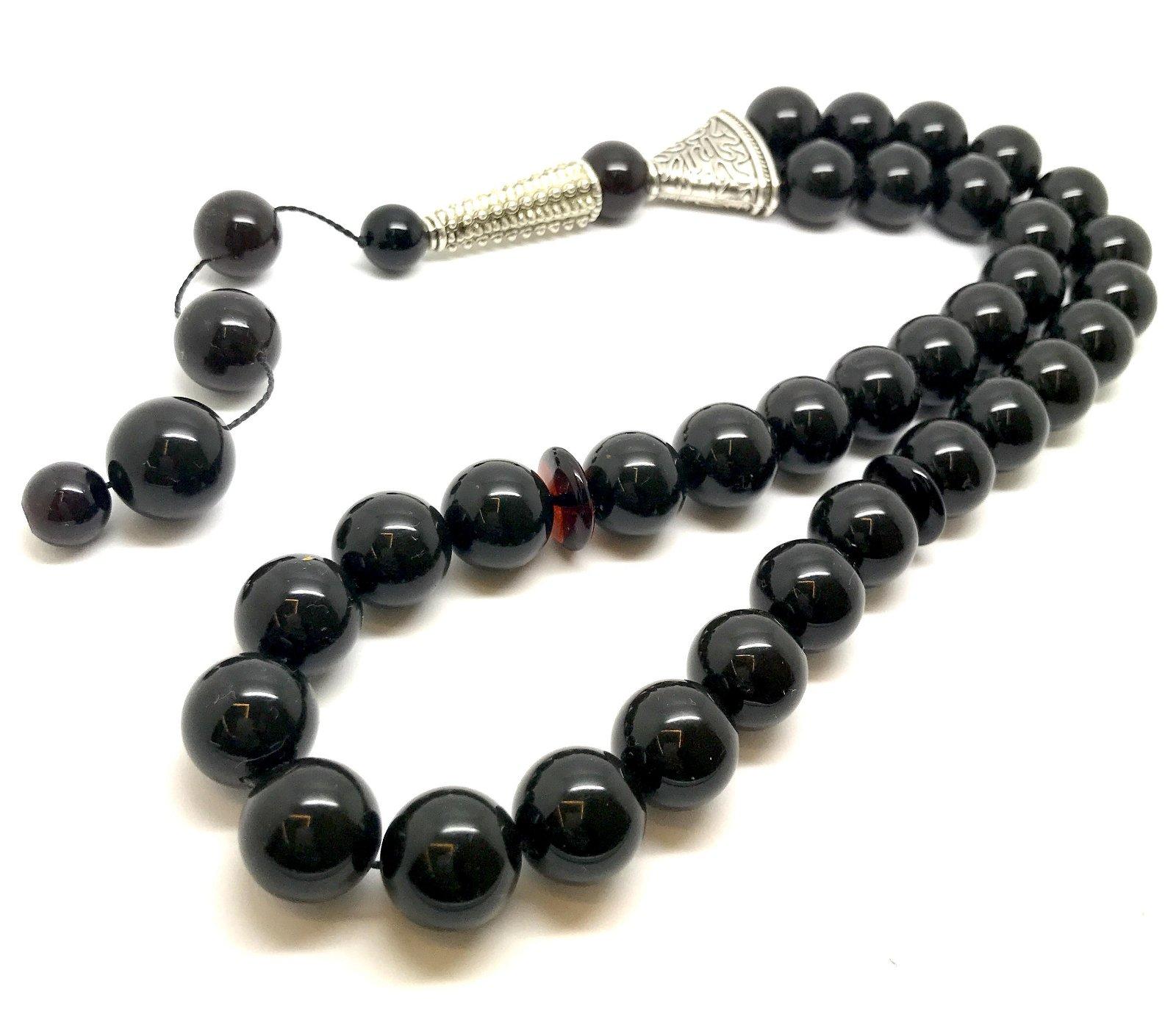 Baltic amber musbaha tesbih Islam rosary 33 beads 71 gr