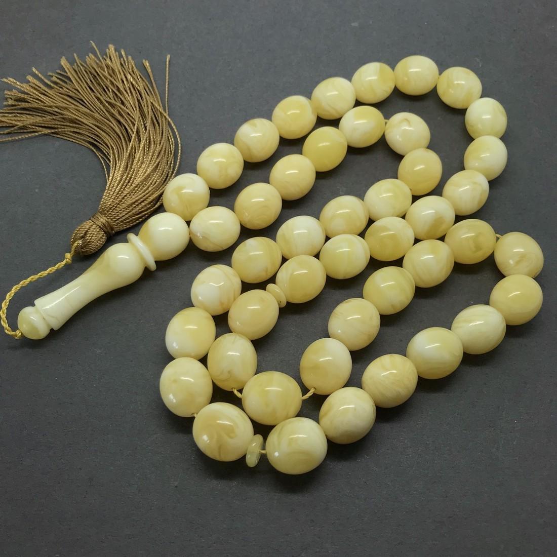 Baltic amber tesbih misbaha beads rosary