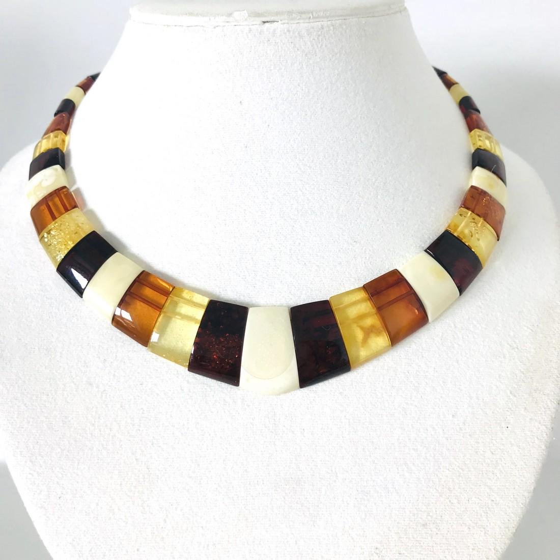 Cleopatra's collar flat necklace Baltic amber