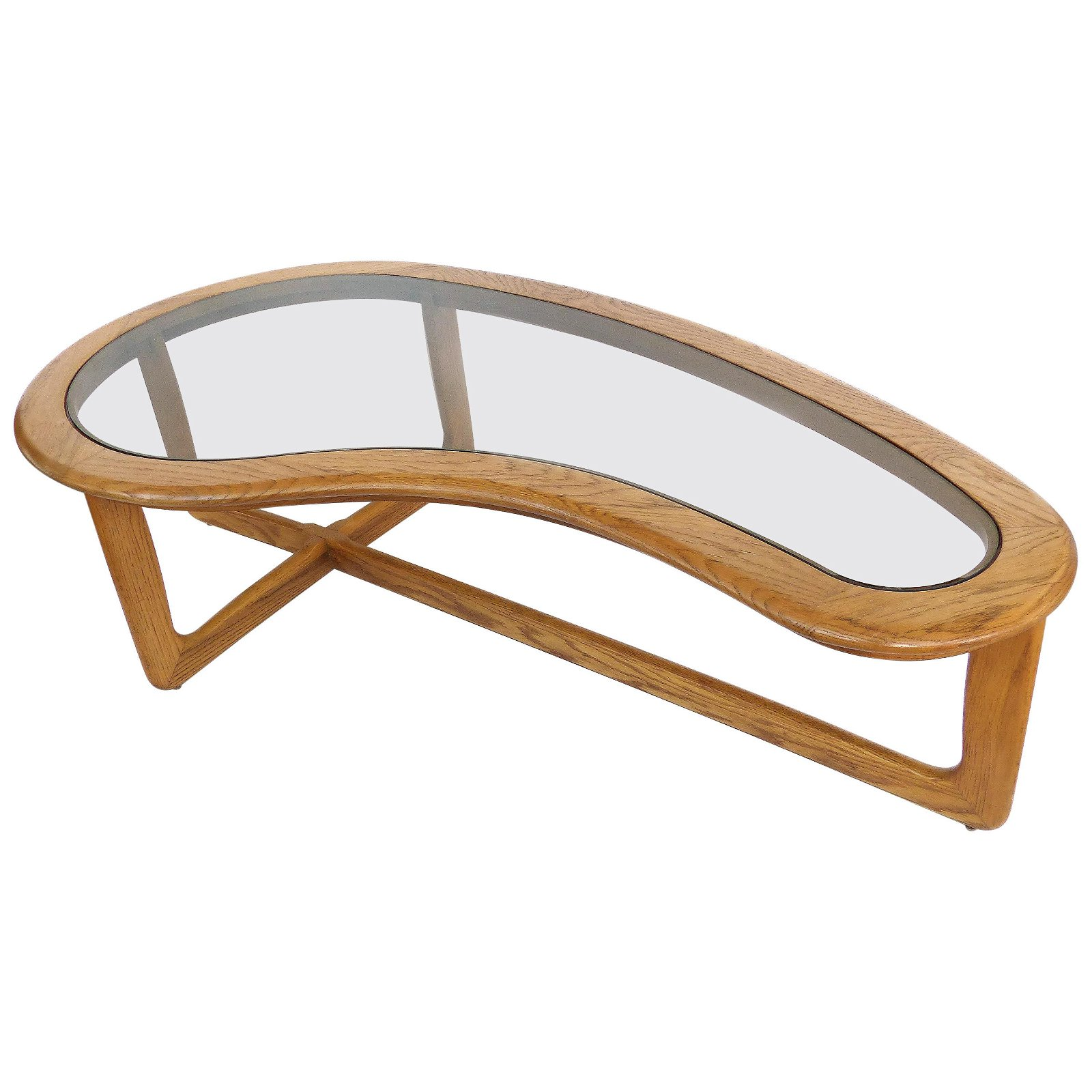 Mid-Century Modern Lane Kidney Shaped Boomerang Walnut