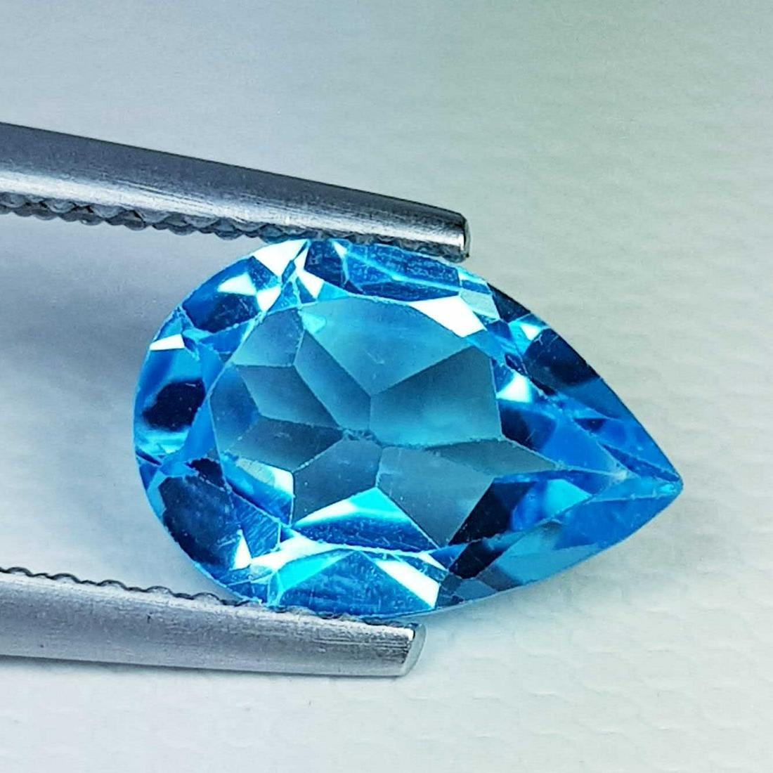 Natural Blue Topaz Pear Cut 1.92 ct
