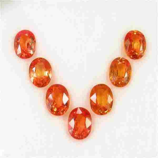 680 Ct Genuine 7 Ceylon Orange Sapphire Oval Necklace