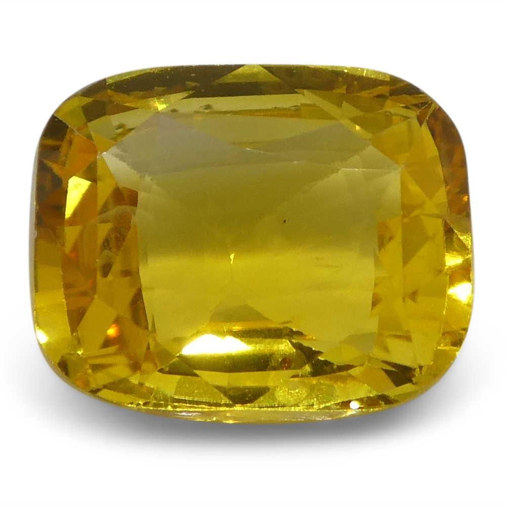 2.52 ct Yellow Sapphire Cushion IGI Certified Sri