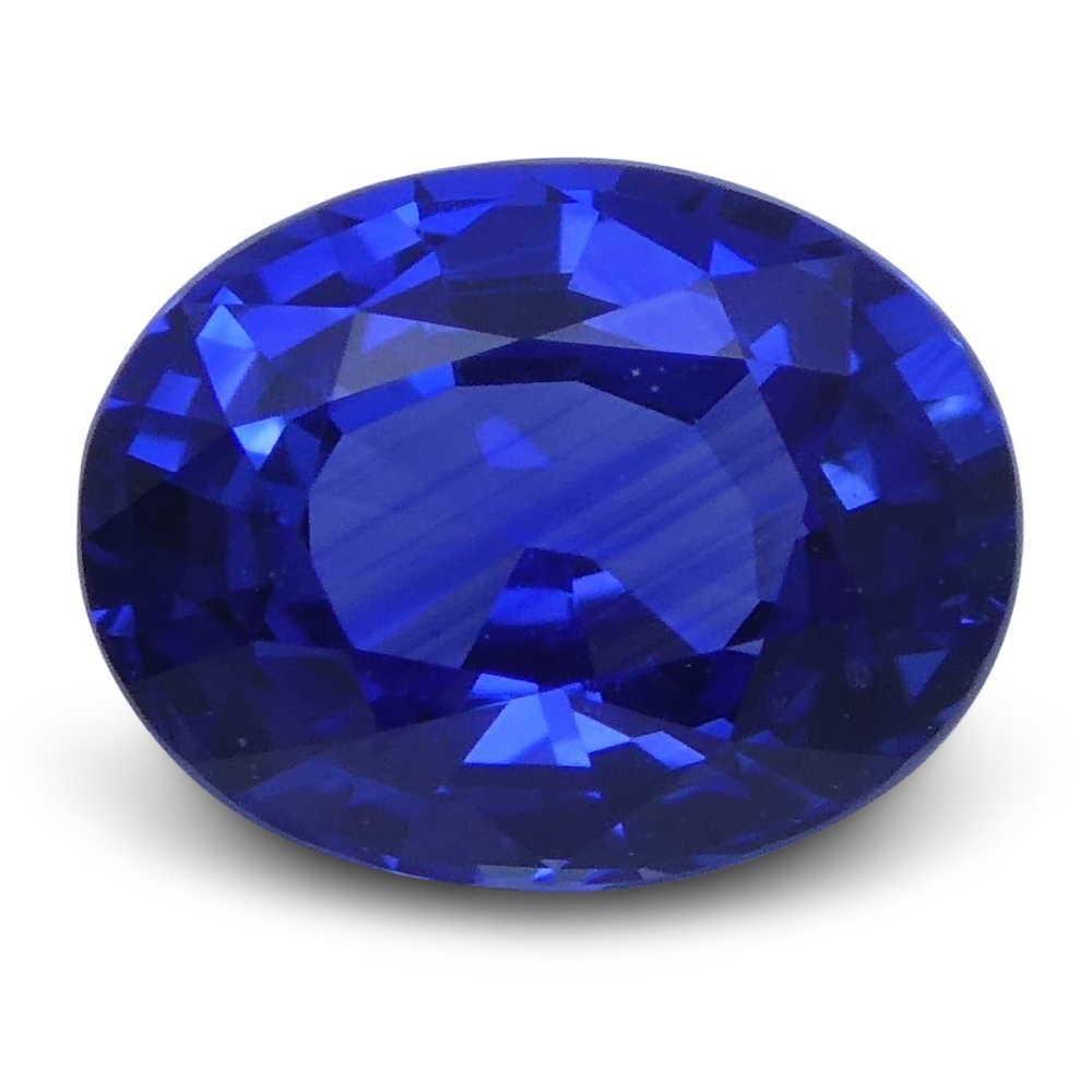 1.10 ct Oval Blue Sapphire IGI Certified