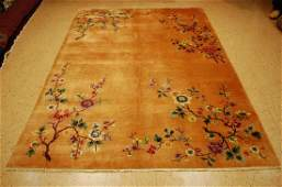 Cir 1920s ANTIQUE ART DECO WALTER NICHOLS CHINESE RUG