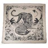 Hermes Scarf Jungle Love Tattoo Cashmere Silk 140 cm