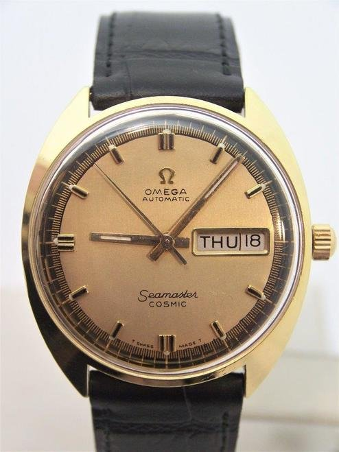 Gold OMEGA SEAMASTER COSMIC Automatic Day Date Watch
