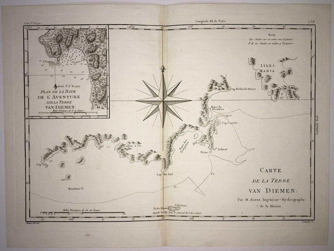 Carte De La Terre Van Diemen.