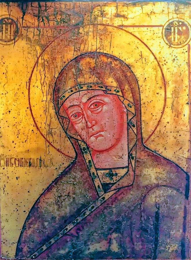 Antique 19c Russian Icon of Ognevidnaya Mother of God