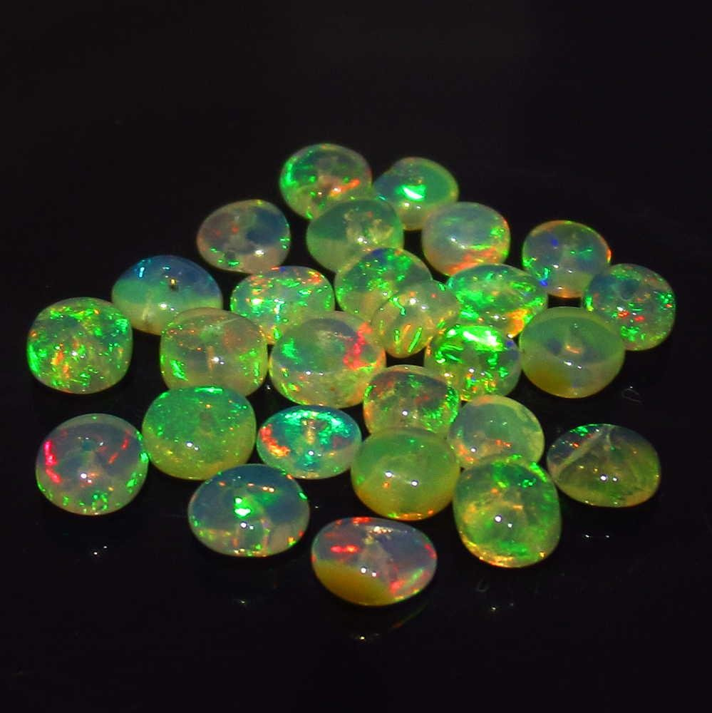 4.49 Ctw Natural 16 Drilled Pear Multi-Color Fire Opal
