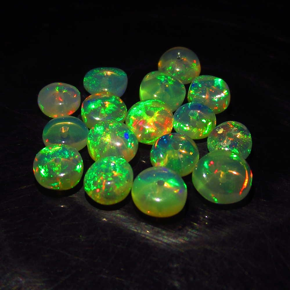 4.81 Ctw Natural 17 Drilled Round Fire Opal Beads