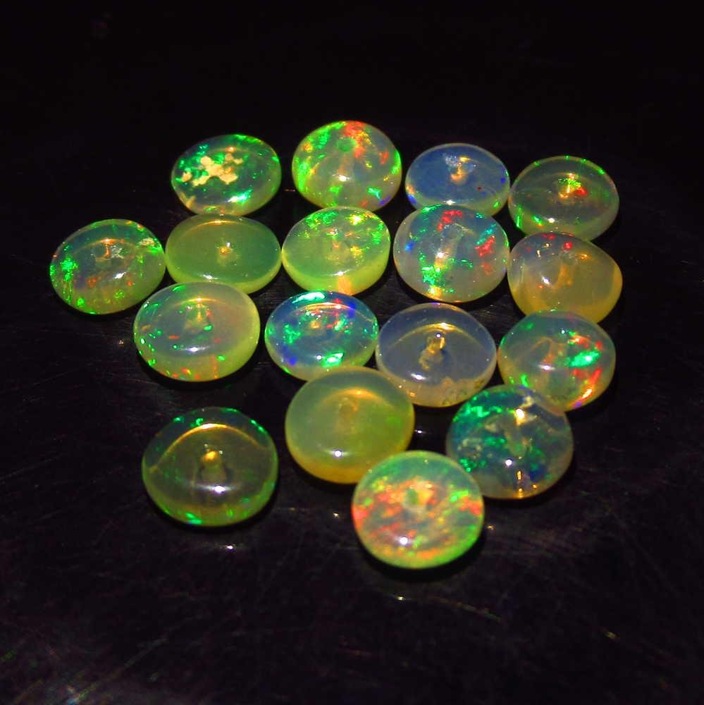4.31 Ctw Natural 17 Drilled Round Fire Opal Beads