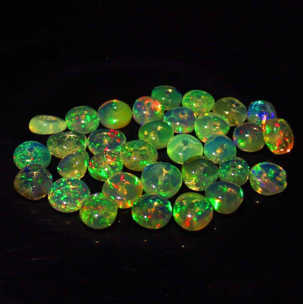 3.44 Ctw Natural 32 Ethiopian Drilled Fire Opal Beads
