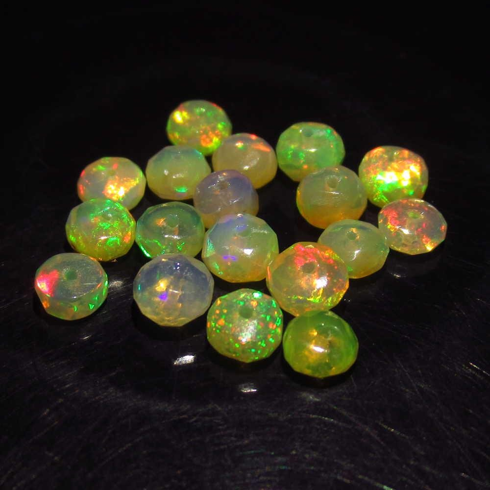 4.65 Ctw Natural 18 Drilled Round Faceted Opal Beads
