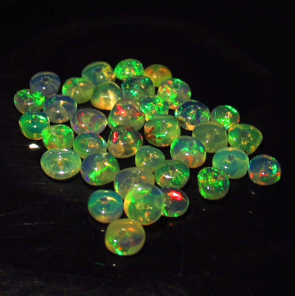 2.52 Ctw Natural 35 Ethiopian Drilled Fire Opal Beads