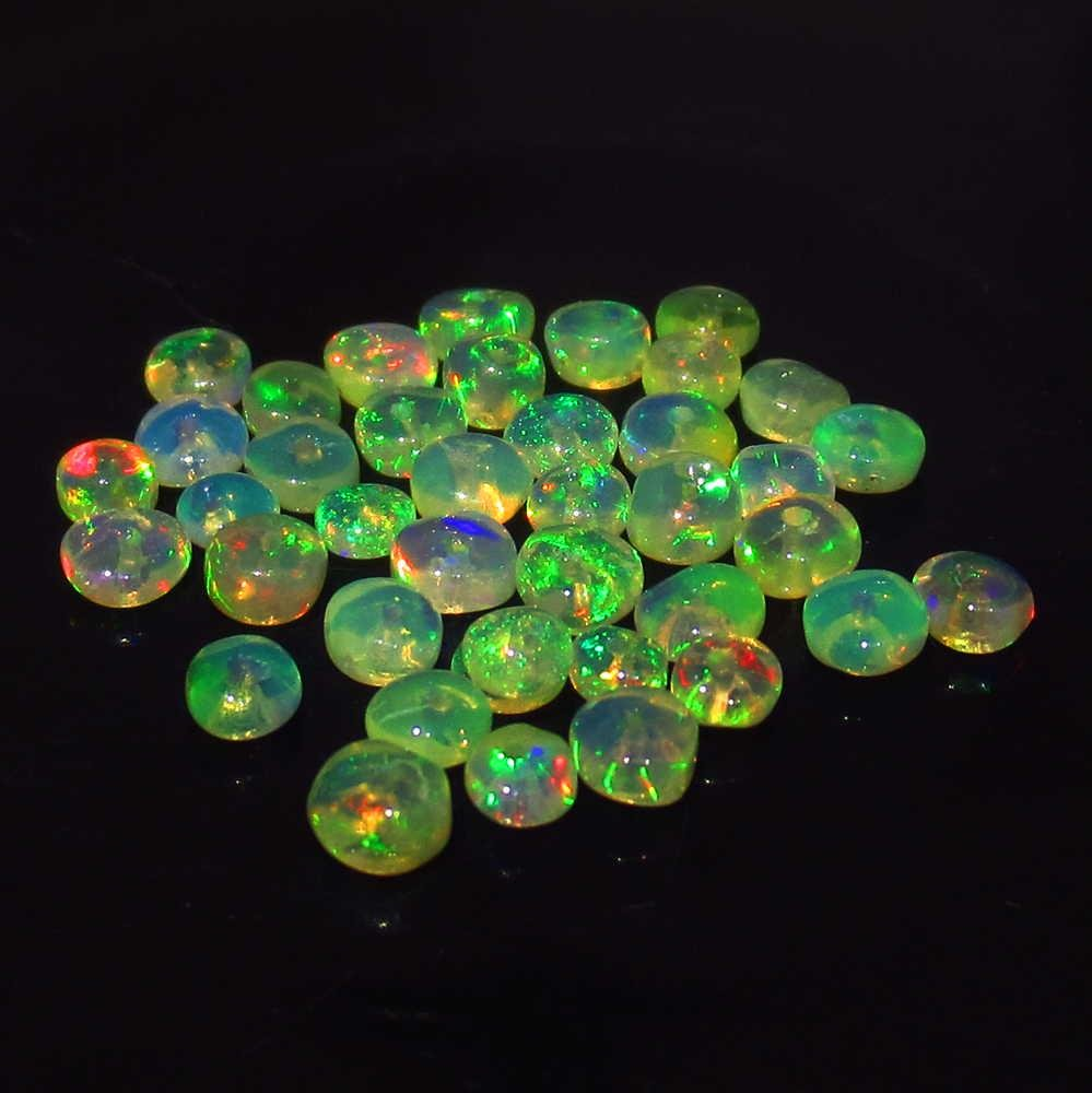 2.90 Ctw Natural 40 Ethiopian Drilled Fire Opal Beads