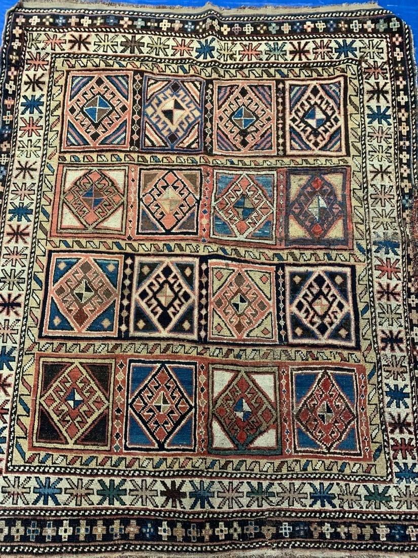 Antique Hand Woven Shirvan 4.7x3.8