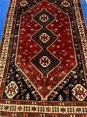 Semi Antique Hand Woven Persian Afshar 5.8x8.9
