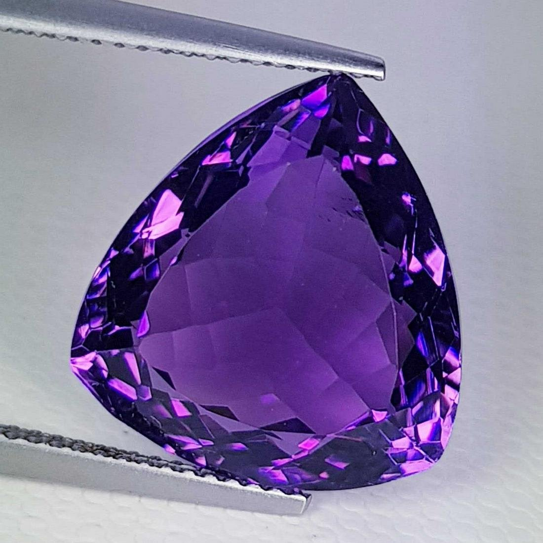 13.20 ct Natural Amethyst Triangle Cut