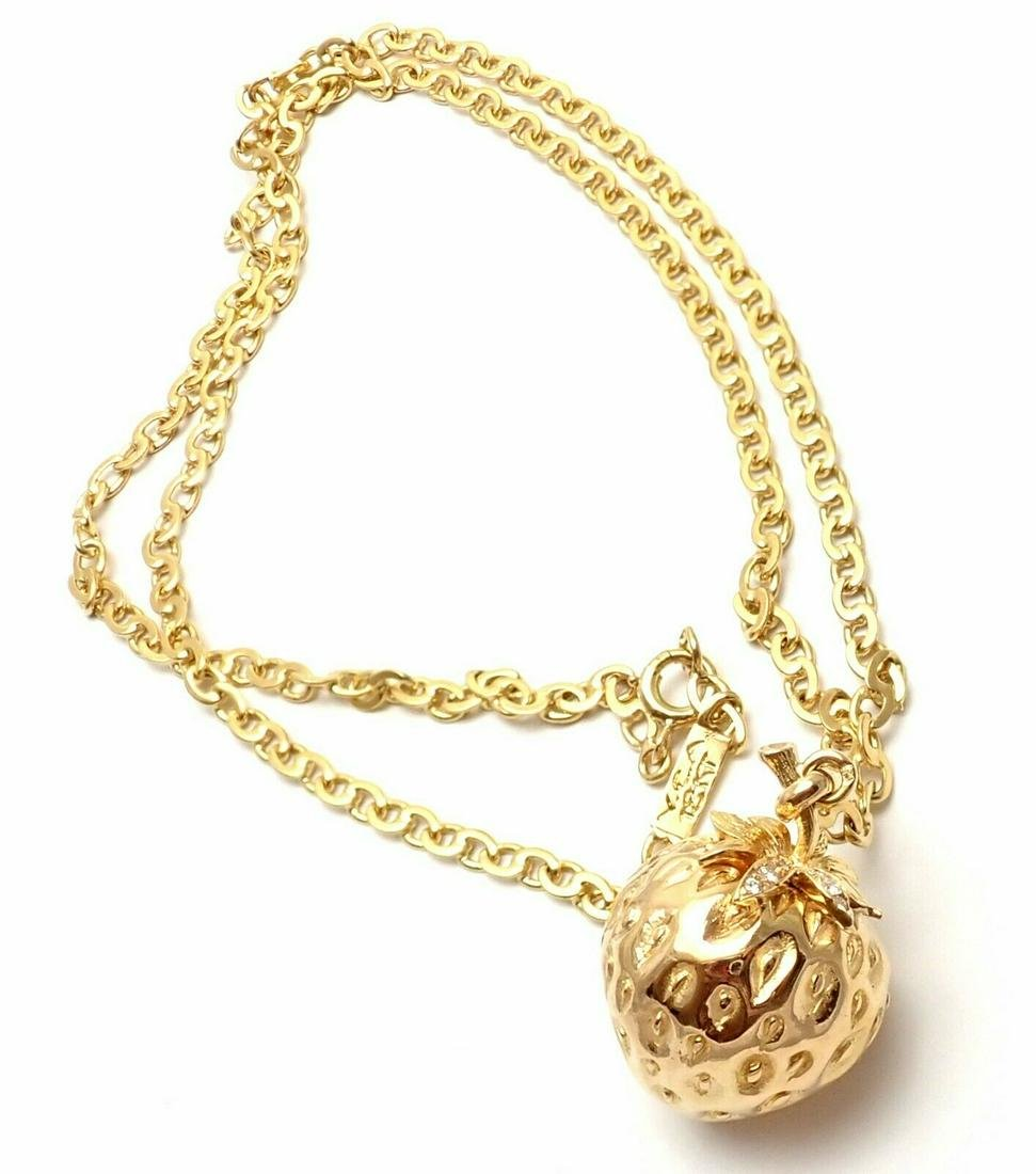 Authentic Van Cleef & Arpels 18k Yellow Gold Diamond