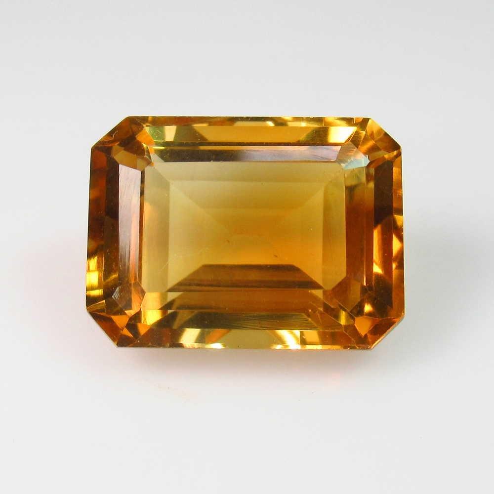 12.68 Ctw Natural Yellow Citrine Octagon Cut