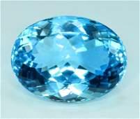 35.40 cts Stunning Electric Blue Topaz Gemstone -