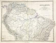 Johnston: Northern South America w/ Railways Key, 1861