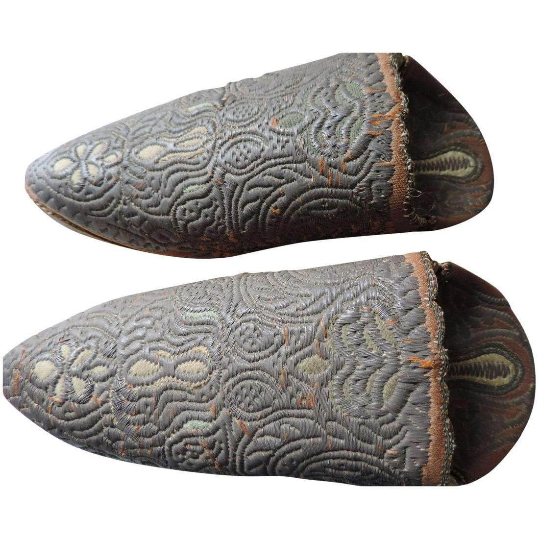 Ottoman Empire Shoes, Leather Soles, Bronze Bullion