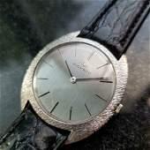 MOVADO Men's 18k White Gold Manual-Wind Dress Watch,